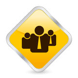 Business people yellow icon Stock Photos