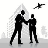 Business peoples. Silhouette  illustration vector Stock Image