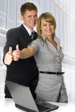 Business peoples. Two smiling positive business peoples Stock Photo