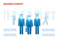 Business peoples concept. Vector business peoples concept with copy space. Businessman and bodyguards Stock Image