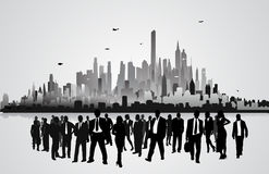 Business peoples in front of city.  Royalty Free Stock Photos