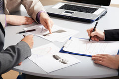 Business people�s hands Royalty Free Stock Photo