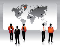 Business peoples silhouettes,  Royalty Free Stock Photo