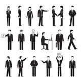 Business peoples silhouettes Stock Photos