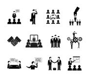 Business peoples silhouettes Stock Photo