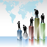 Business peoples with statistic graphics Stock Photo