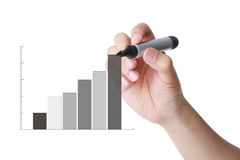 Business performance bar chart Royalty Free Stock Photo