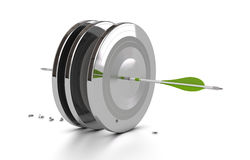 Business performance, challenge, arrow target Stock Photography