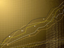 Business performance gold Stock Photos
