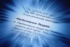 Business Performance Targets. An image about business performance targets Royalty Free Stock Photo