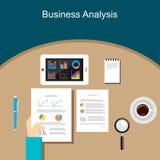 Business Person Analyzes Data Economy Statistics Stock Photography