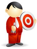 Business person - bullseye royalty free stock images