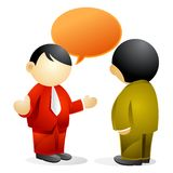 Business person - chatting Royalty Free Stock Images