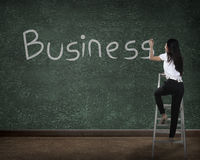 Business person drawing business on the board Royalty Free Stock Photo