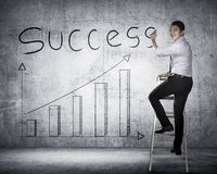 Business person drawing chart on the board Stock Image