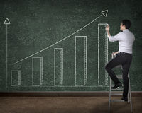 Business person drawing chart on the board Stock Images