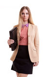 Business person with folder in hand Stock Photography