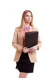 Business person with folder in hand Stock Photo