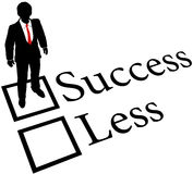 Business person get Success not Less Royalty Free Stock Photography