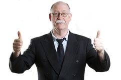 Business person giving thumbs up Stock Image