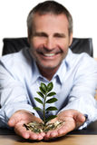 Business person happy about financial wealth. Stock Images