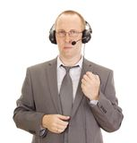 Business person with head set Stock Photos
