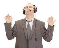Business person with head set Stock Photo