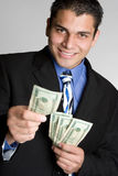 Business Person Holding Money Stock Photo