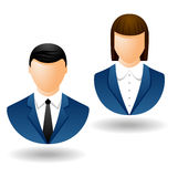 Business person icons Stock Images