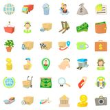 Business person icons set, cartoon style. Business person icons set. Cartoon style of 36 business person vector icons for web isolated on white background Royalty Free Stock Image