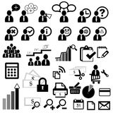 Business person icons vector Stock Photography