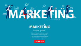 Business person of marketing. Concept business banner of website. Illustration. Vector flat character Stock Photography