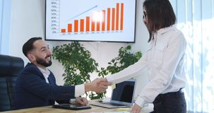 Business Person Partnership Talking Using Digital Tablet Collaboration Office.  Royalty Free Stock Image