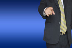 Business person pointing Stock Image