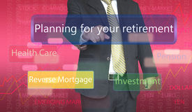 Business person pointing Stock Images