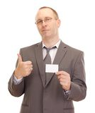 Business person showing visiting card Stock Photography