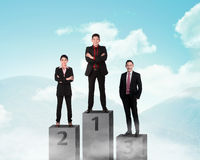 Business person standing on the podium Stock Image