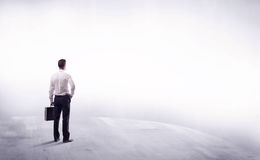 Business person standing from rear view Royalty Free Stock Photography