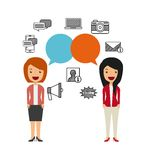 Business person talking isolated icon design Stock Images