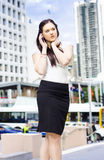 Business Person Talking On Mobile Phone In Street Stock Images