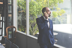 Business Person Talking Phone Concept Royalty Free Stock Photos
