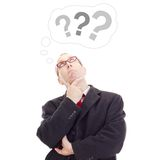 Business person thinking about question Royalty Free Stock Photography