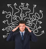 Business person thinking a solution Stock Image