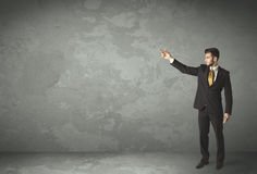 Business person throwing with empty copyspace Stock Photos