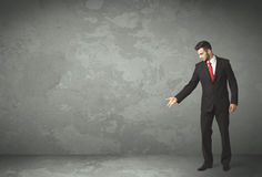 Business person throwing with empty copyspace Stock Photo
