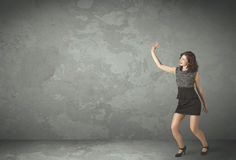 Business person throwing with empty copyspace Royalty Free Stock Image