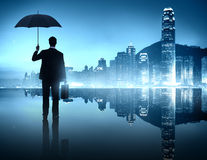 Business Person in an Urban Scene.  royalty free stock photo