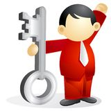 Business person - victorous key royalty free stock photography