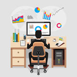 Business person working and analyzing financial statistics. Business analysis concept Stock Image