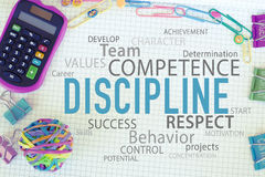 Business Personal or Teamwork Discipline. Discipline in business concept, team teamwork or personal discipline to be successful royalty free stock image